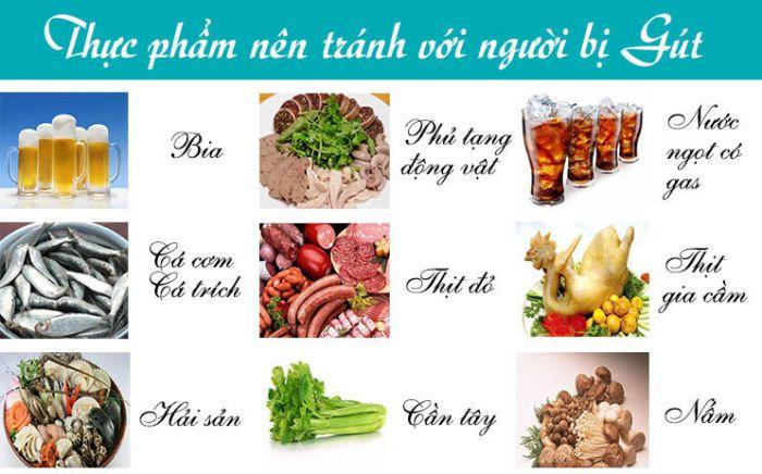 Bệnh gout kiêng ăn gì?